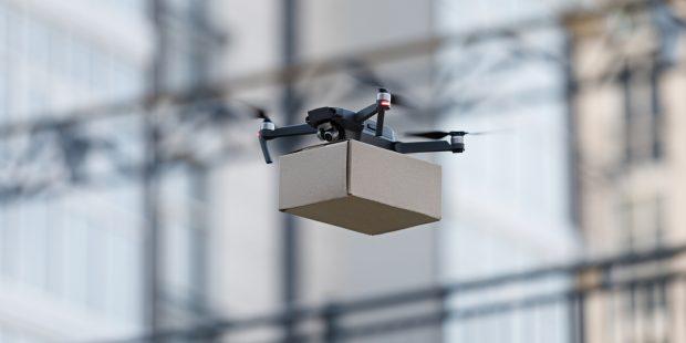 drone transportation cardboard box,