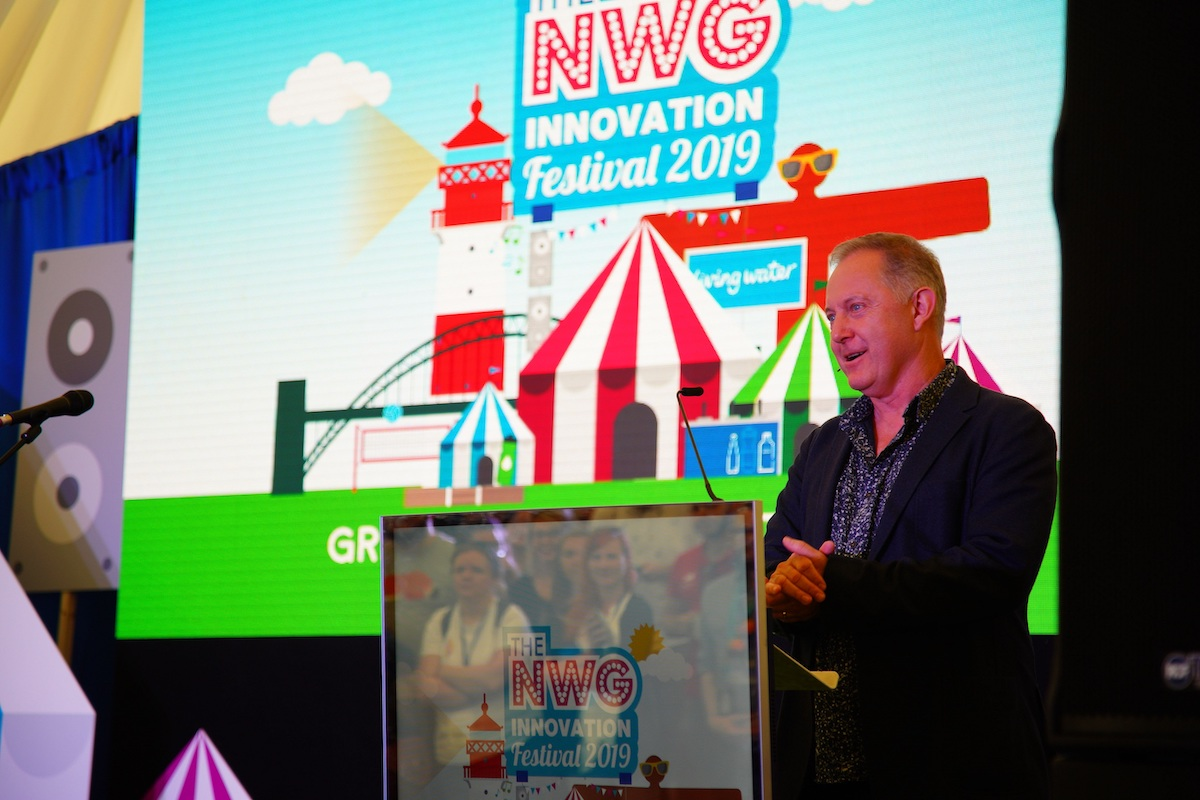 Nigel Watson, Chief Information Officer at the Northumbrian Water Group speaking at the 2019 Innovation Festival