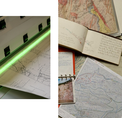 Paper maps and documents