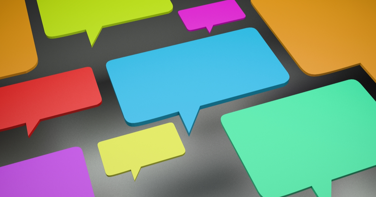 3D dialog bubble talk