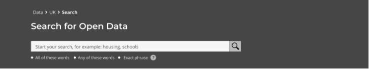 Data portal search box